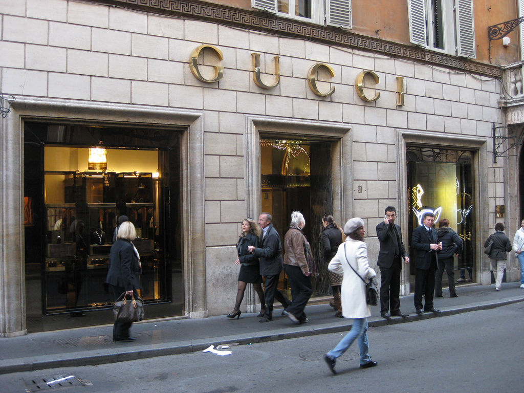 Italian women fashion brands Gucci