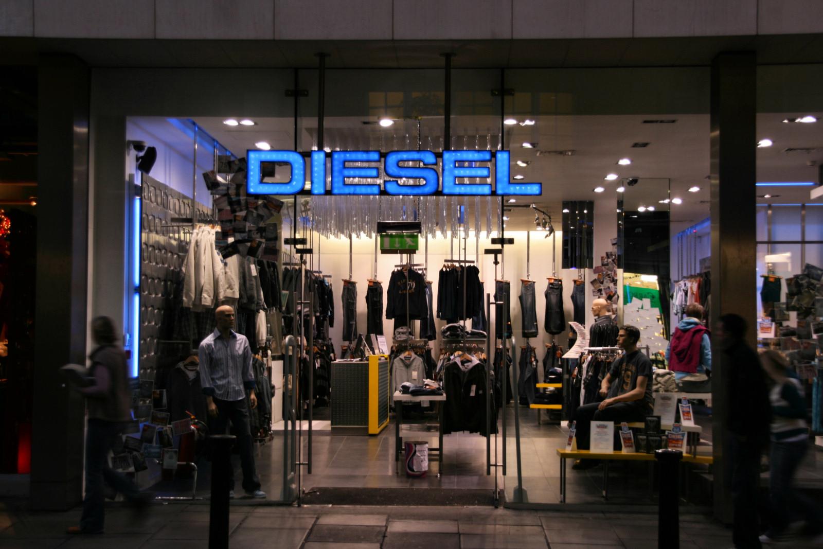 Italian men fashion brands Diesel