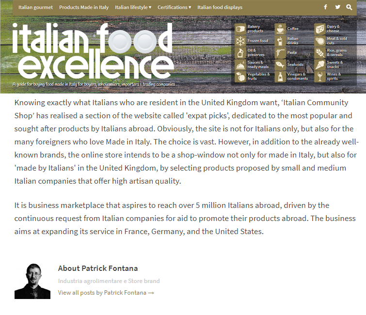 Italian food shop online uk