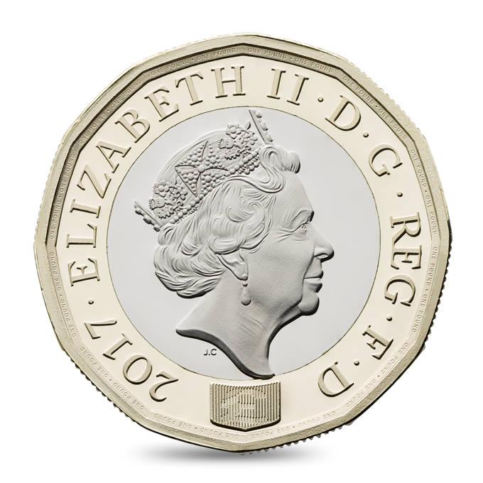 nuova moneta da 1 pound
