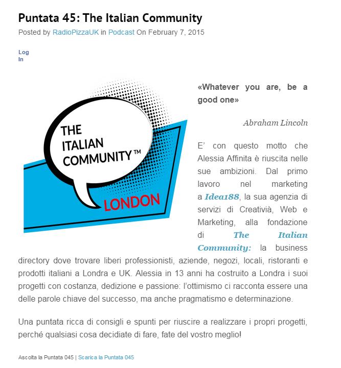 Radio Pizza UK - rassegna stampa