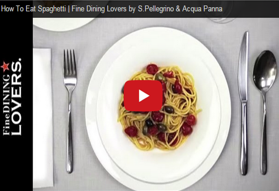 Table Etiquette: how to eat Spaghetti