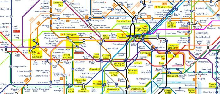 tube londra mappa