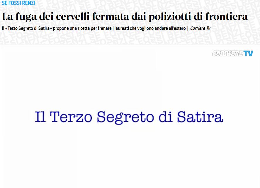 Video.Corriere.it: La fuga dei cervelli fermata dai poliziotti di frontiera