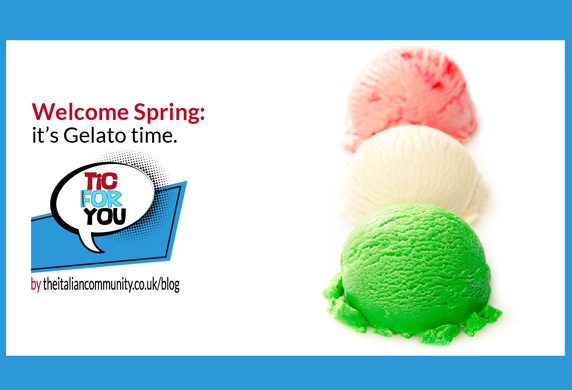 Welcome Spring: it's Gelato time.