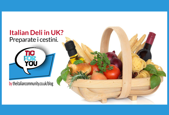 Prodotti alimentari italiani in UK? Preparate i cestini