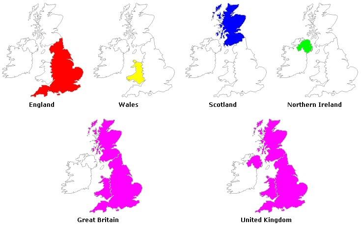 differenza tra Inghilterra, Gran Bretagna, Regno Unito