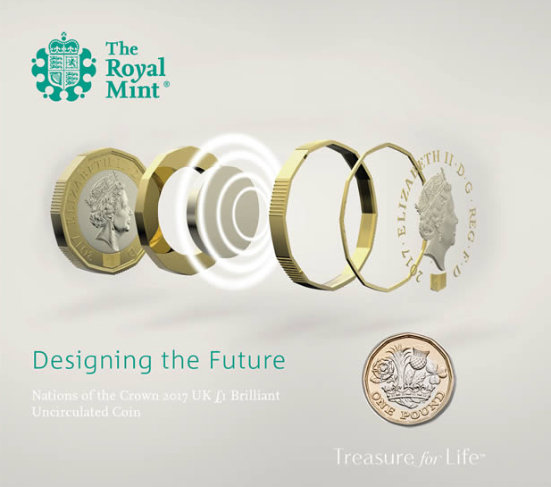 nuova moneta da 1 sterlina
