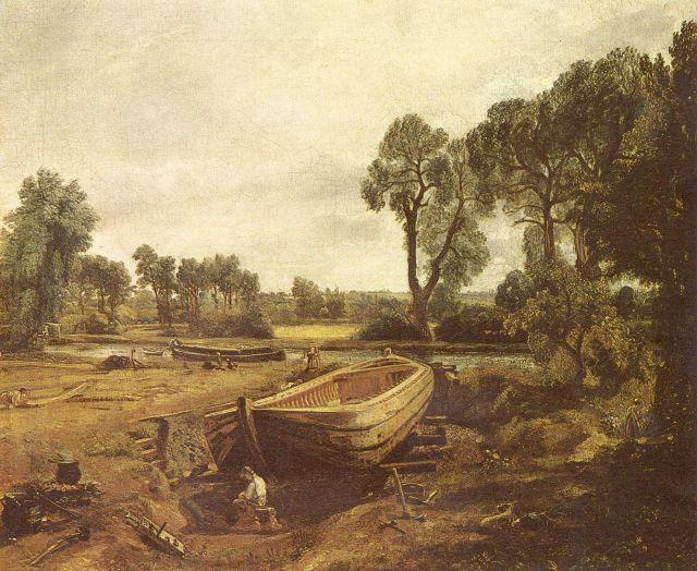 Barca in costruzione di John Constable
