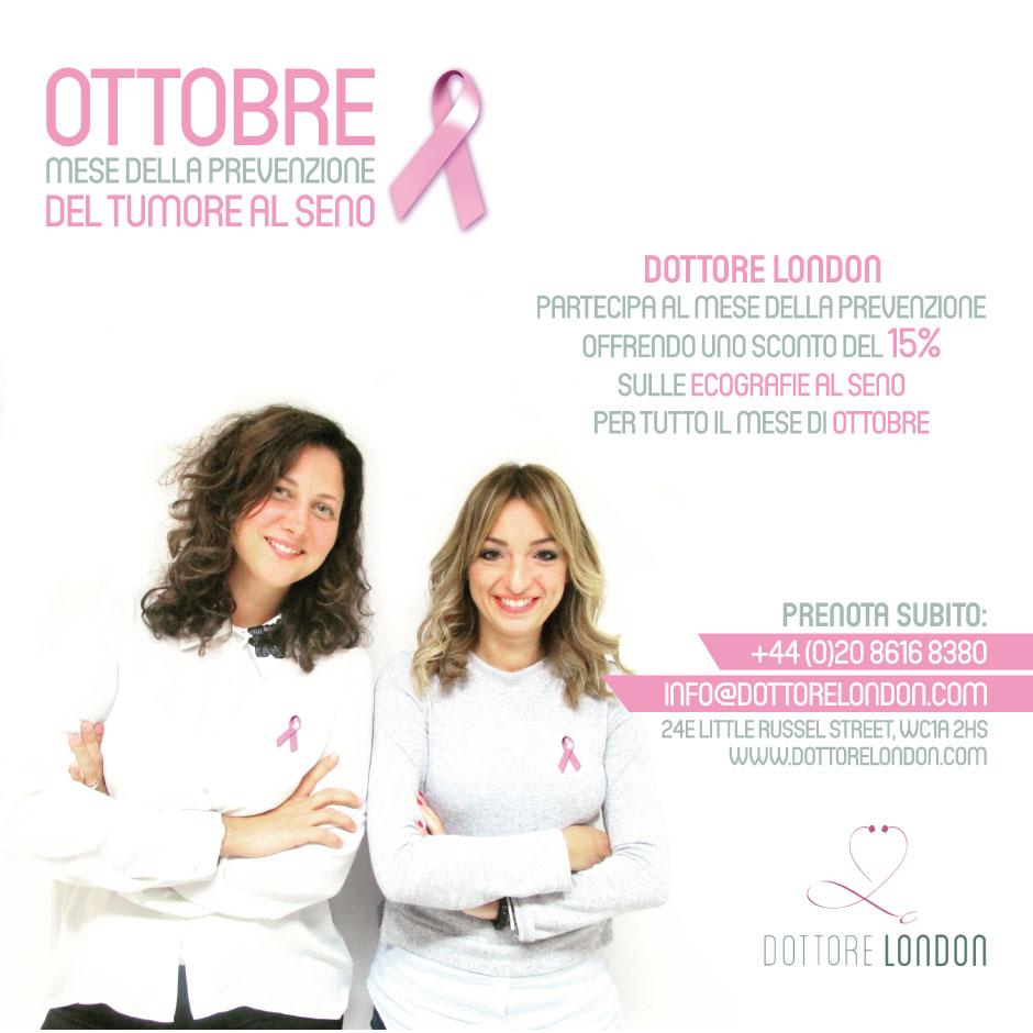 Sconto sulle ecografie al seno per tutto il mese di ottobre